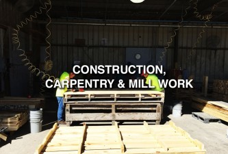 Construction, Carpentry, Mill Work